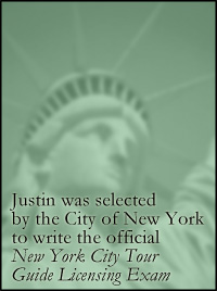 Justin was selected to write the official New York City Tour Guide Exam. Find out more.